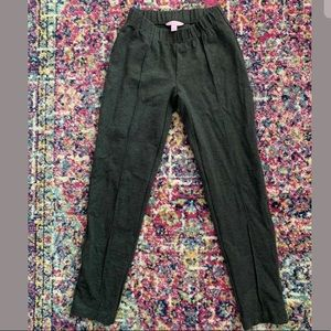 Lilly Pulitzer Gray Ponte Knit Ankle Travel Pants